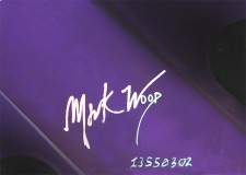 Mark's signature appears on the back, just above the serial number.