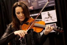 Cassandra Sotos enjoys the Nashville at its NAMM 2015 debut